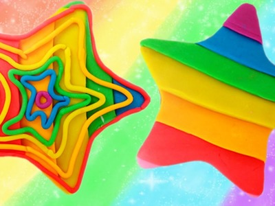 Play - Doh How to Make a Rainbow Star | Cu Kids