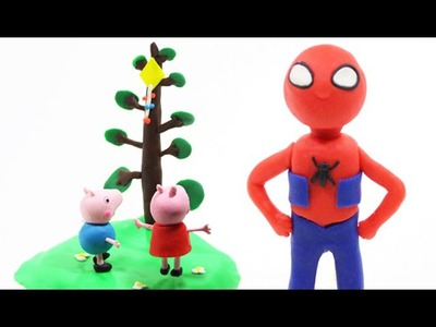 Play Doh Spider Man - How To Make Baby Spider Man, Tutorial Play Doh Videos [HD Play DOH]
