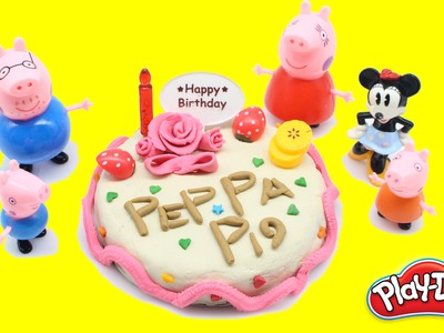 #Play Doh Videos || #How to make Birthday Cake - DIY #Peppa pig play doh 2016