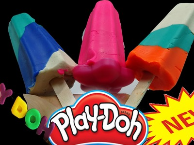 ▬►Play Dough Popsicles How To Make Play Doh Rainbow Ice Cream Fun and Creative for Kids