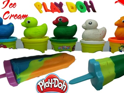 ▬►Play Dough Popsicles How To Make Play Doh Rainbow Ice Cream Duck Fun and Creative for Kids