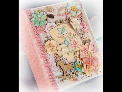 Prima Heaven Sent Baby Mini Scrapbook Photo Album