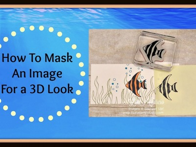 Quick Crafting Tip - How to Mask an Image for a 3D Look
