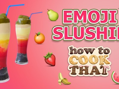 RAINBOW SLUSHIE RECIPE How To Cook That Ann Reardon MAGIC EMOJI SLUSHY