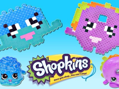Shopkins Challenge - Bagel Billy & Doggy Bowl - Making DIY Shopkins Crafts with Perler Beads on DCTC