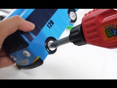 Tayo the Little Bus & Dino Tools toy with Learn Color. How to Make Bus