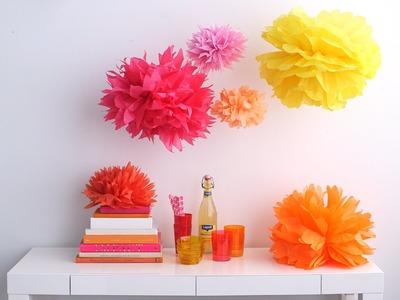 Tissue Paper Pom-Poms - Martha Stewart