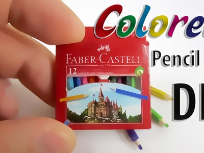 Tutorial how to make a Realistic Miniature colored pencils with box