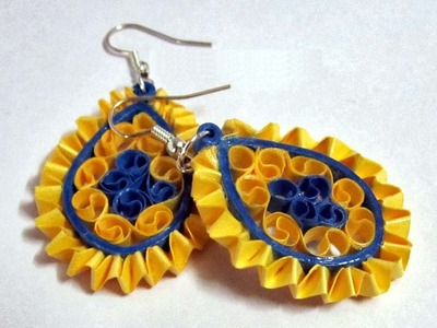 Weaving quilling earrings - how to make quilling paper earrings