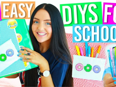 10 EASY DIY SCHOOL SUPPLIES FOR BACK TO SCHOOL 2016! Binders, Notebooks, Pencil Case, Organization!