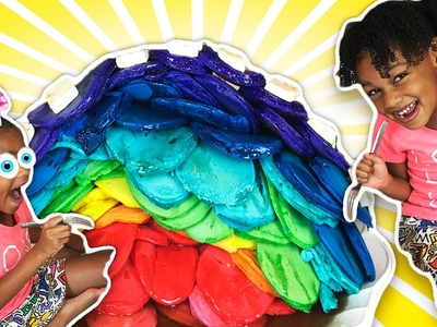 100+ Coats of N̶a̶i̶l̶ ̶P̶o̶l̶i̶s̶h̶  PANCAKES! #Polishmountain | Kids DIY Rainbow Pancake Mountain