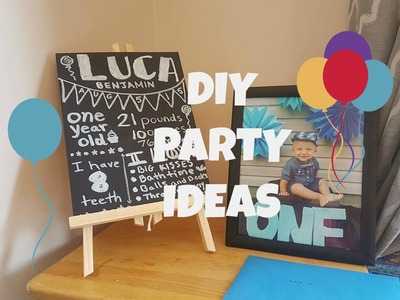 BABY BOY'S FIRST BIRTHDAY | DIY IDEAS