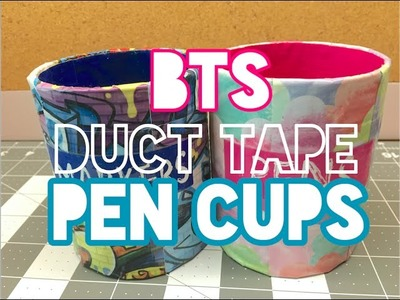 Back To School: Duct Tape Pen Cups DIY