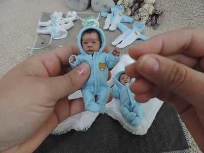 Bebê miniatura Polymer Clay