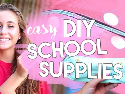 DIY Back To School Supplies 2016! Backpack, Pencil Case, Notebook + more! Fun & Easy