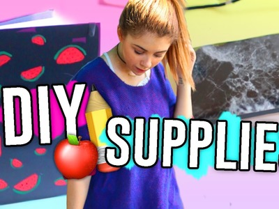 DIY Back to School Supplies You NEED To Try!! Tumblr Inspired!! . Jill Cimorelli