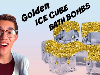 Diy bath bombs | Golden ice cubes | cheap and easy !