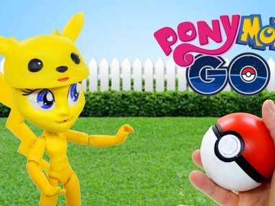 DIY custom Pokemon GO from My Little Pony Equestria girl mini doll. How to make Pikachu HD