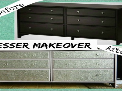 DIY| Dresser Makeover with Glitter (IKEA Hack)!!!