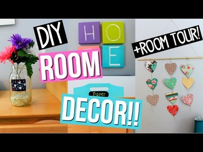Diy Easy Room Decor Ideas!+ ROOM TOUR! Collab with glittterinmyhair