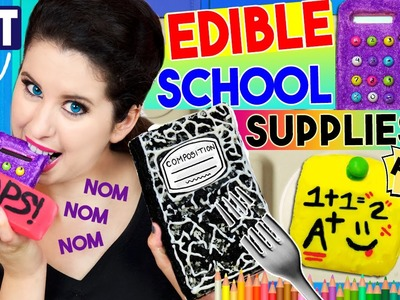 DIY Edible School Supplies | EAT Your Calculator, Notebook, Glue Stick, Eraser & Post-It Notes!