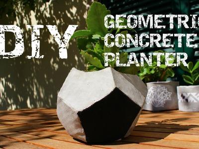 DIY - Geometric Concrete Planter