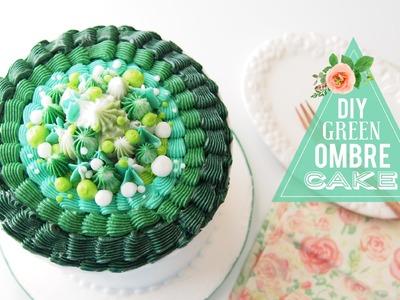 DIY Green Ombre Cake | Cake Decorating | Greggy Soriano