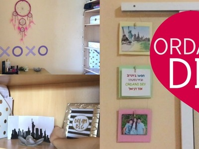 DIY ROOM DECOR: XOXO SIGN, New York STAND & PHOTOS WALL HOLDER! | ORDANI DIY