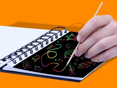 DIY SCRATCH OFF NOTEBOOK! - back to school!