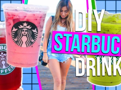 DIY Starbucks Drinks for Summer!! 3 Refreshing Drink Ideas!