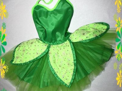 DIY Tinkerbell costume easy ! disfraz de campanita Facil