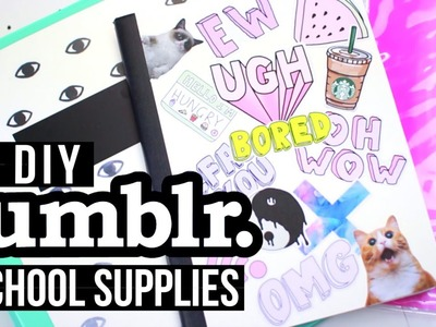 DIY Tumblr School Supplies + Giveaway! Back to School 2016