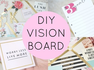 DIY Vision Board. Back to School Inspiration