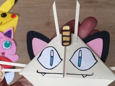 Easy Meowth DIY - Pokemon Bookmark Corners - Origami Inspired - Pokemon Go