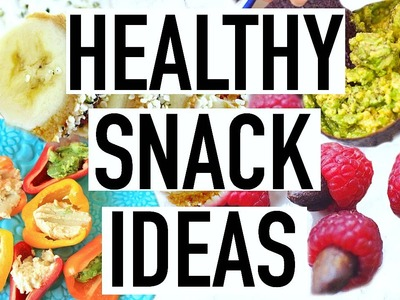 Healthy Snack Ideas For Back To School! DIY Snacks For School 2016!