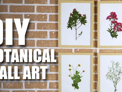 Mad Stuff With Rob - DIY Botanical Wall Art | Room Decor Ideas