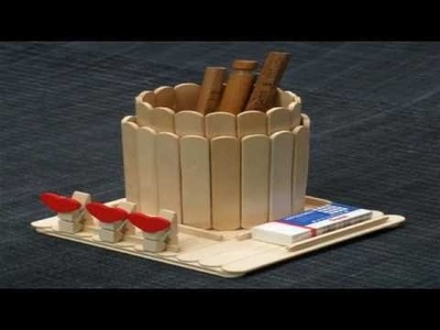 Recycled ice cream sticks .  10 most amazing diy ideas