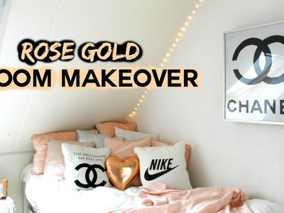 Room Makeover !!! Rose gold DIY's   Demiana Acis
