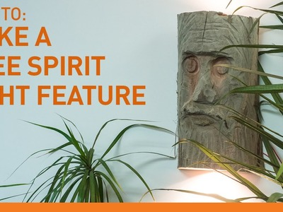 Tree spirit light feature - Quick and easy DIY project using a split log.