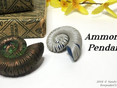 Ammonite Pendants-Polymer Clay Tutorial