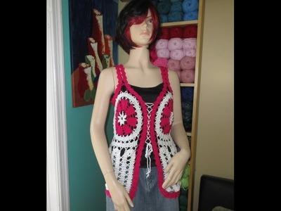 Crochet blusa de verano Rubidalia en encaje de bruja con Ruby Stedman