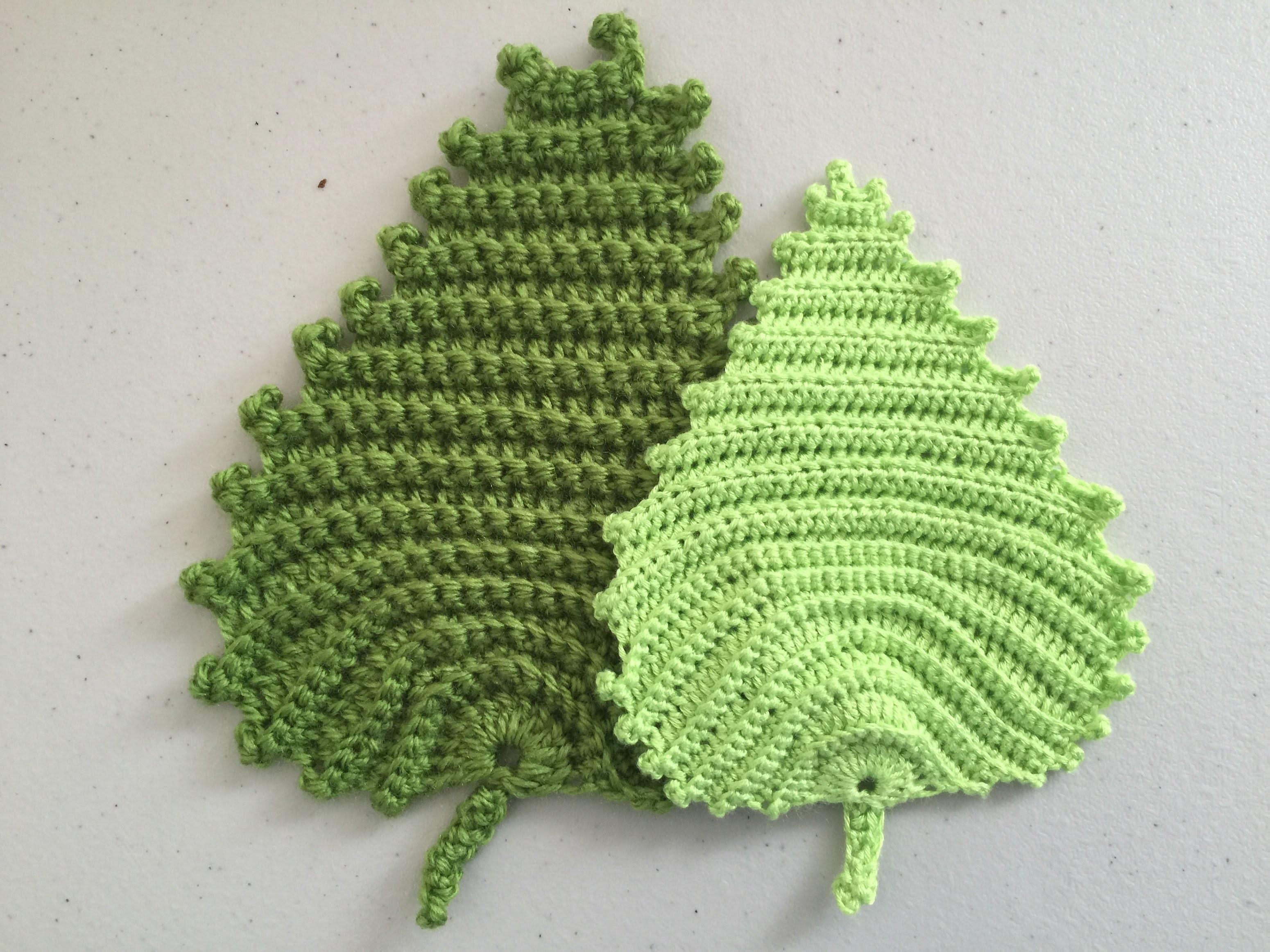 Ирландский лист вязание крючком