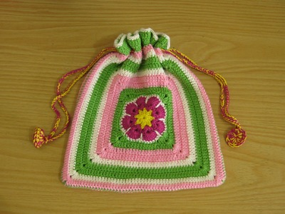Crochet    Tutorial Merajut Kantong Serba Guna - Granny Square