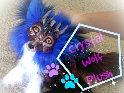 DIY crystal wolf doll plush