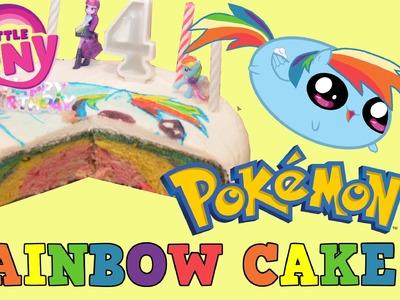 Ella's Birthday My Little Pony Rainbow Dash Pokemon Go RAINBOW CAKE