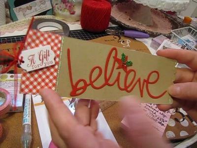 "Heidi Swapp ""Believe"" Christmas Tag &  Daiso Goodies"
