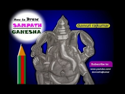 How to draw ganesh maharaj | Making of Khairatabad Ganesha | How to create ganapathi statue