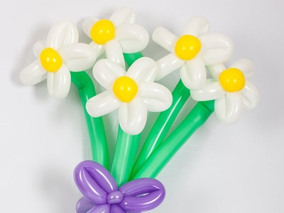 How to make a balloon daisy - Balloon flower tutorial