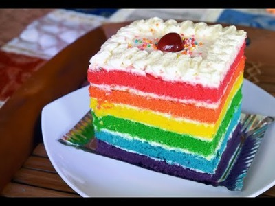 How to Make a Delicious Rainbow Cake