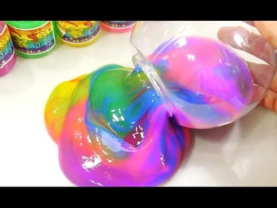 How To Make 'Rainbow Slime' Polymer Balls Clay Slime Toys - Slime Polymer Balls Toys